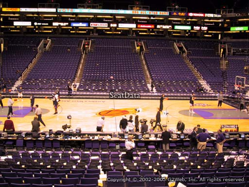 Seat view from section 102 at Talking Stick Resort Arena, home of the Phoenix Suns