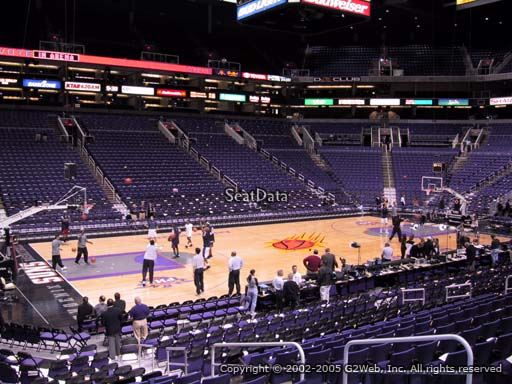 Seat view from section 104 at Talking Stick Resort Arena, home of the Phoenix Suns