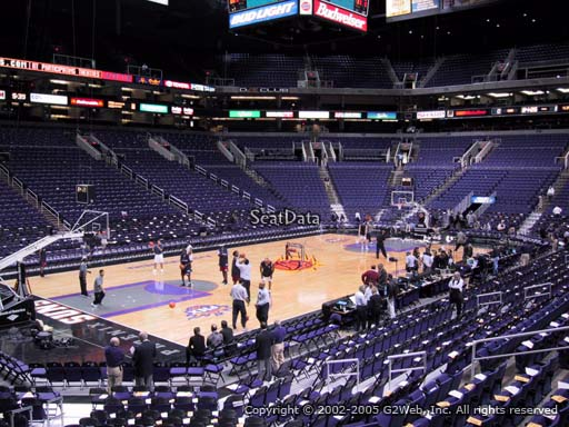 Seat view from section 105 at Talking Stick Resort Arena, home of the Phoenix Suns