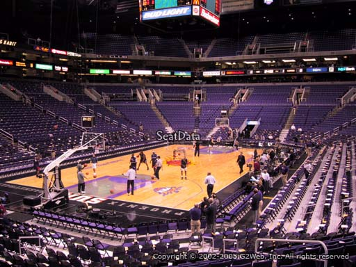 Seat view from section 106 at Talking Stick Resort Arena, home of the Phoenix Suns