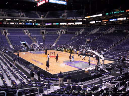 Seat view from section 110 at Talking Stick Resort Arena, home of the Phoenix Suns