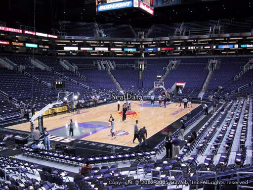 Seat view from section 118 at Talking Stick Resort Arena, home of the Phoenix Suns