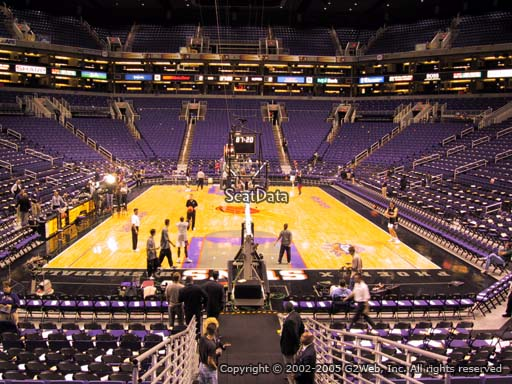 Seat view from section 120 at Talking Stick Resort Arena, home of the Phoenix Suns