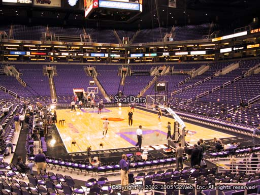 Seat view from section 121 at Talking Stick Resort Arena, home of the Phoenix Suns