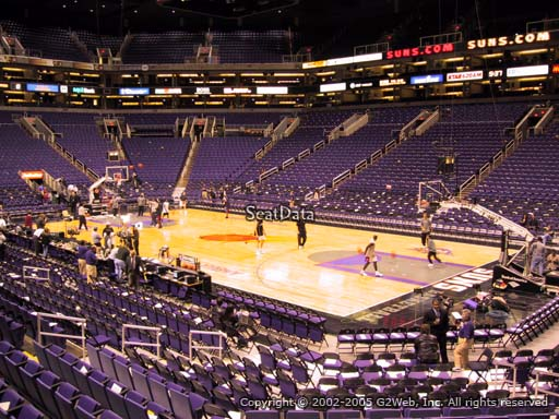 Seat view from section 123 at Talking Stick Resort Arena, home of the Phoenix Suns