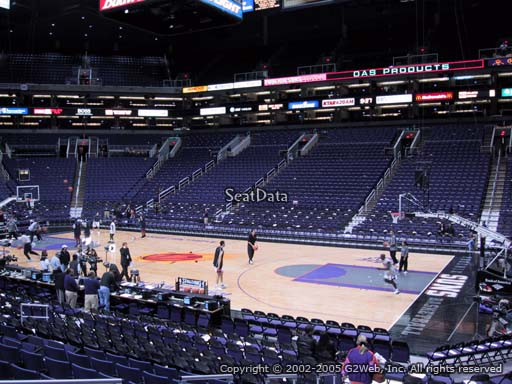 Seat view from section 124 at Talking Stick Resort Arena, home of the Phoenix Suns