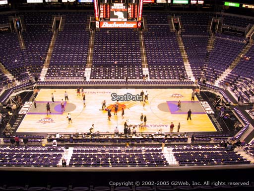 Seat view from section 203 at Talking Stick Resort Arena, home of the Phoenix Suns