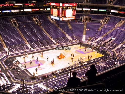 Seat view from section 206 at Talking Stick Resort Arena, home of the Phoenix Suns