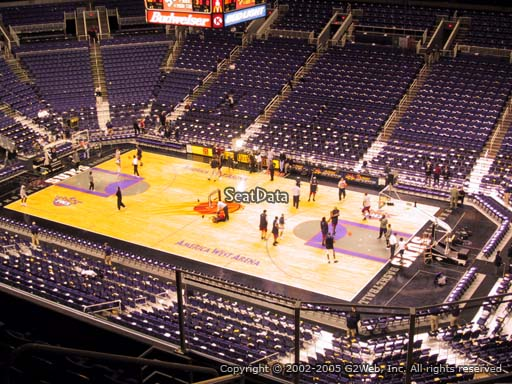 Seat view from section 216 at Talking Stick Resort Arena, home of the Phoenix Suns