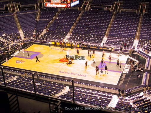 Seat view from section 217 at Talking Stick Resort Arena, home of the Phoenix Suns