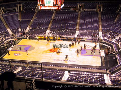 Seat view from section 218 at Talking Stick Resort Arena, home of the Phoenix Suns