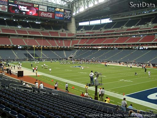 Seat view from section 101 at NRG Stadium, home of the Houston Texans