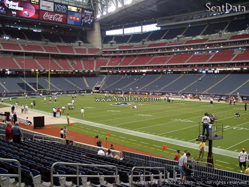 Seat view from section 102 at NRG Stadium, home of the Houston Texans