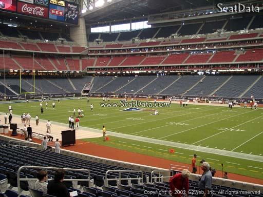 Seat view from section 103 at NRG Stadium, home of the Houston Texans