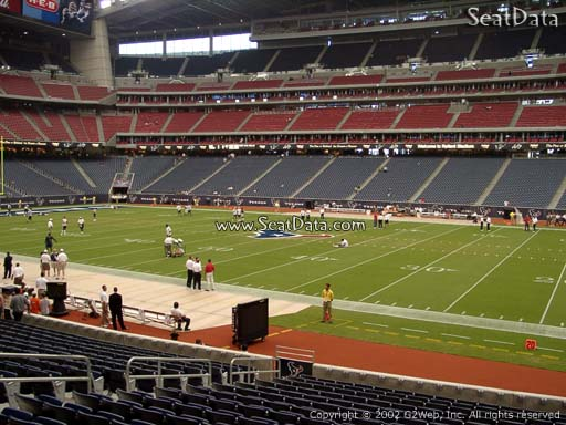 Seat view from section 104 at NRG Stadium, home of the Houston Texans