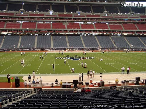 Seat view from section 107 at NRG Stadium, home of the Houston Texans