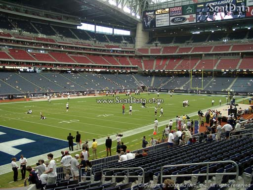 Seat view from section 112 at NRG Stadium, home of the Houston Texans