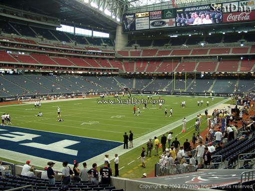 Seat view from section 113 at NRG Stadium, home of the Houston Texans