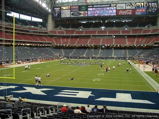 Seat view from section 115 at NRG Stadium, home of the Houston Texans