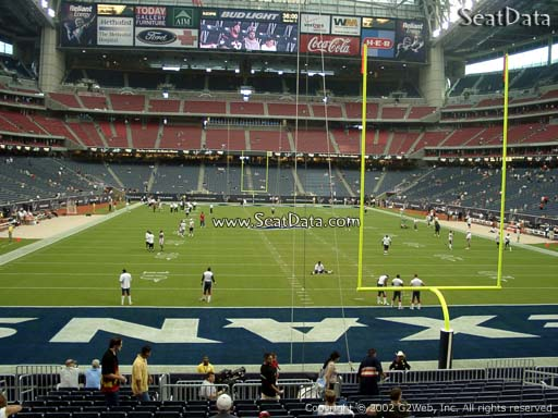 Seat view from section 117 at NRG Stadium, home of the Houston Texans
