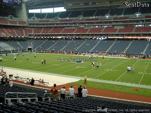 Seat view from section 124 at NRG Stadium, home of the Houston Texans