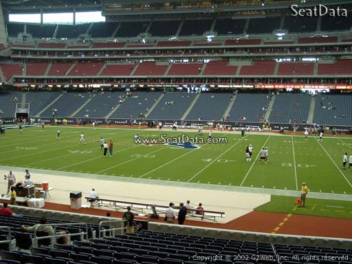 Seat view from section 125 at NRG Stadium, home of the Houston Texans