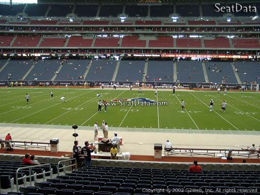 Seat view from section 126 at NRG Stadium, home of the Houston Texans