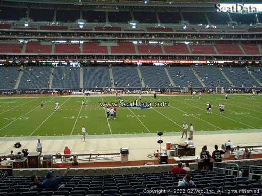 Seat view from section 127 at NRG Stadium, home of the Houston Texans