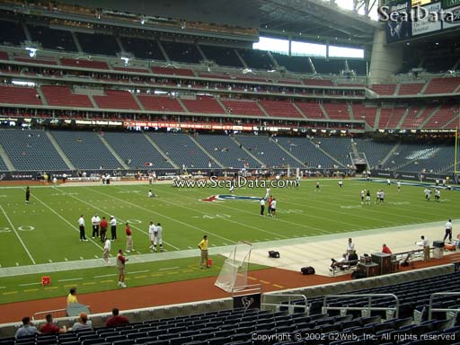 Seat view from section 129 at NRG Stadium, home of the Houston Texans