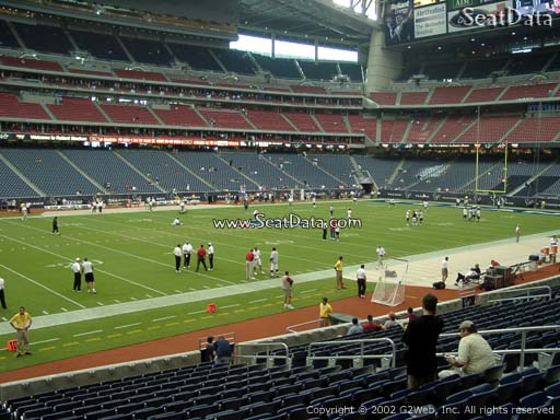 Seat view from section 130 at NRG Stadium, home of the Houston Texans