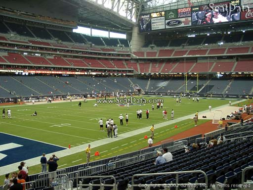 Seat view from section 132 at NRG Stadium, home of the Houston Texans