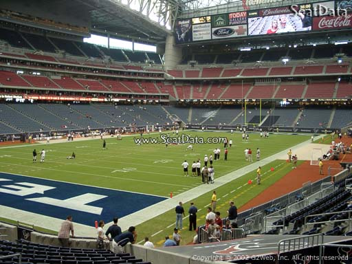 Seat view from section 133 at NRG Stadium, home of the Houston Texans