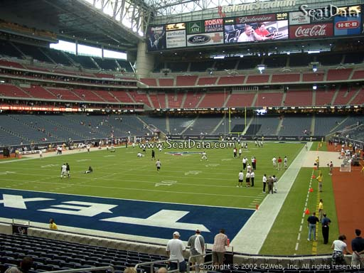 Seat view from section 134 at NRG Stadium, home of the Houston Texans