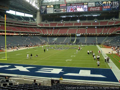 Seat view from section 135 at NRG Stadium, home of the Houston Texans