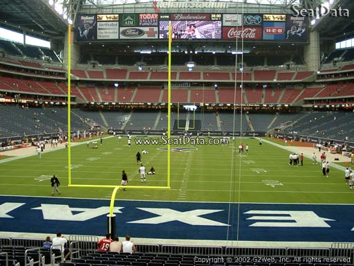 Seat view from section 136 at NRG Stadium, home of the Houston Texans