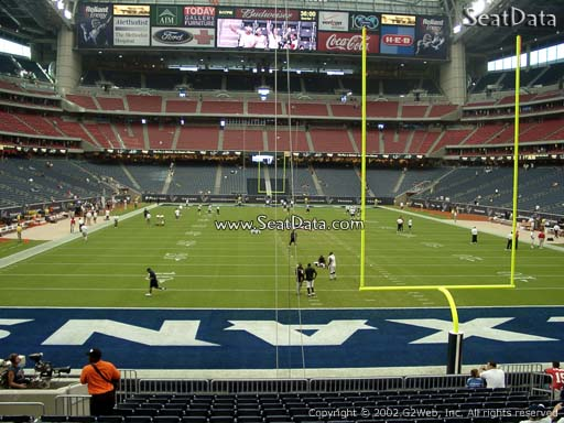 Seat view from section 137 at NRG Stadium, home of the Houston Texans