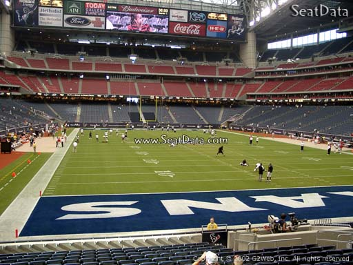 Seat view from section 138 at NRG Stadium, home of the Houston Texans