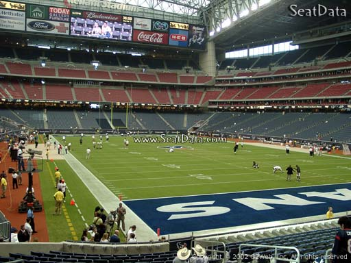 Seat view from section 139 at NRG Stadium, home of the Houston Texans