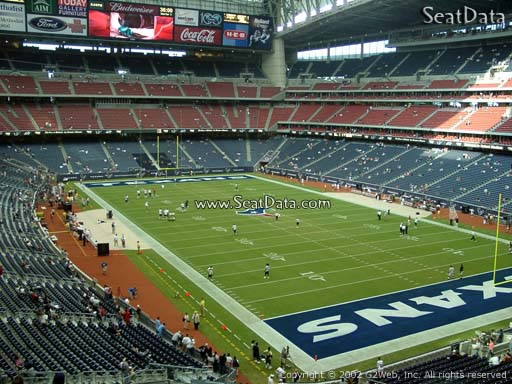 Seat view from section 301 at NRG Stadium, home of the Houston Texans