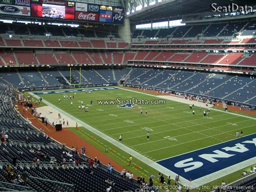 Seat view from section 302 at NRG Stadium, home of the Houston Texans