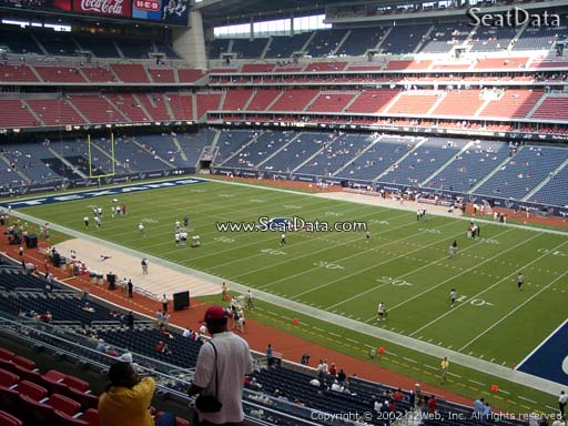 Seat view from section 305 at NRG Stadium, home of the Houston Texans