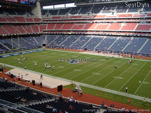 Seat view from section 306 at NRG Stadium, home of the Houston Texans