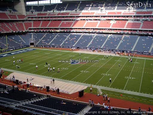 Seat view from section 307 at NRG Stadium, home of the Houston Texans