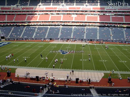 Seat view from section 309 at NRG Stadium, home of the Houston Texans