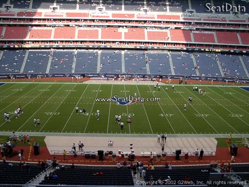 Seat view from section 310 at NRG Stadium, home of the Houston Texans