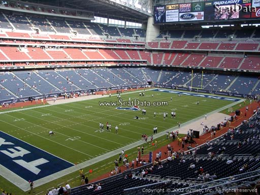 Seat view from section 316 at NRG Stadium, home of the Houston Texans