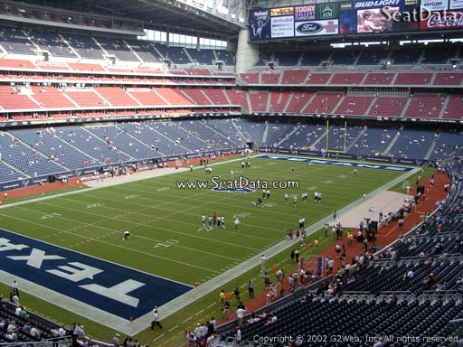 Seat view from section 317 at NRG Stadium, home of the Houston Texans
