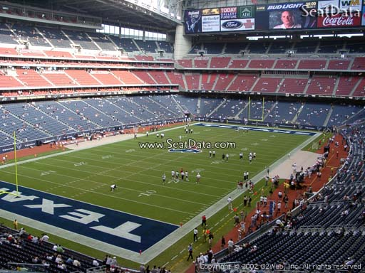 Seat view from section 318 at NRG Stadium, home of the Houston Texans