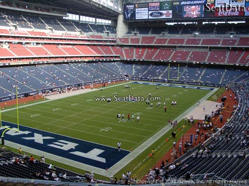 Seat view from section 319 at NRG Stadium, home of the Houston Texans