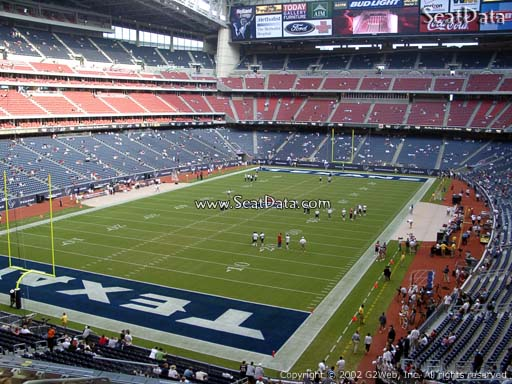 Seat view from section 320 at NRG Stadium, home of the Houston Texans